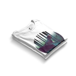 HH - Allame Gölgeler Beyaz T-shirt (Seçili Ürün) - Thumbnail