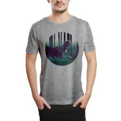HH - Allame Gölgeler Gri T-shirt (Seçili Ürün) - Thumbnail