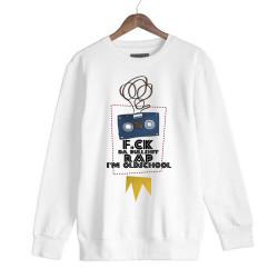 Allame - HH - Allame Oldschool Beyaz Sweatshirt
