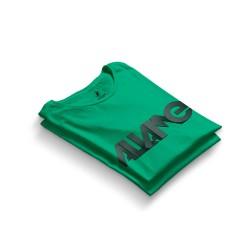 HH - Allame Tipografi Yeşil T-shirt (Seçili Ürün) - Thumbnail