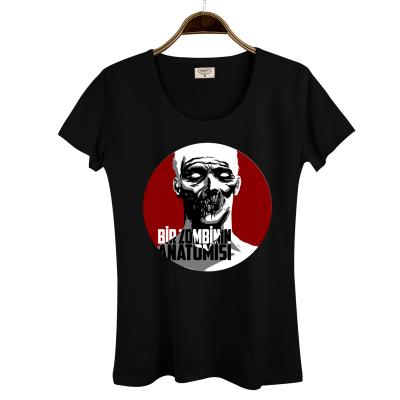 HH - Allame Zombinin Anatomisi Kadın Siyah T-shirt (Seçili Ürün)