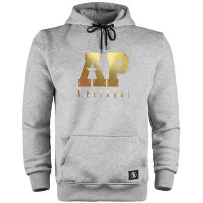 HH - Anıl Piyancı A.P. Gold Edition Gri Cepli Hoodie (Fırsat Ürünü)