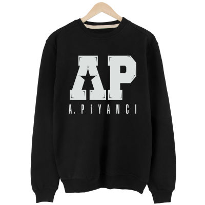 Anıl Piyancı - A.P. Siyah Sweatshirt (Değişim ve İade Yoktur)