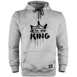 HH - Anıl Piyancı I Am The King Cepli Hoodie - Thumbnail