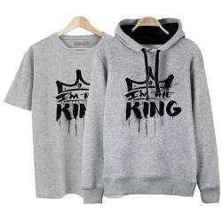 HH - Anıl Piyancı I Am The King Cepli Hoodie + T-shirt Paketi