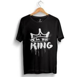 Outlet - HH - Anıl Piyancı I Am The King Siyah T-shirt (Seçili Ürün)
