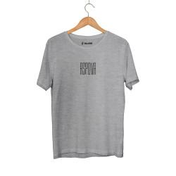 Aspova - HH - Aspova Tipografi Gri T-shirt (ÖN SİPARİŞ)