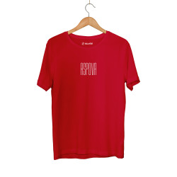 Aspova - HH - Aspova Tipografi Kırmızı T-shirt (ÖN SİPARİŞ)
