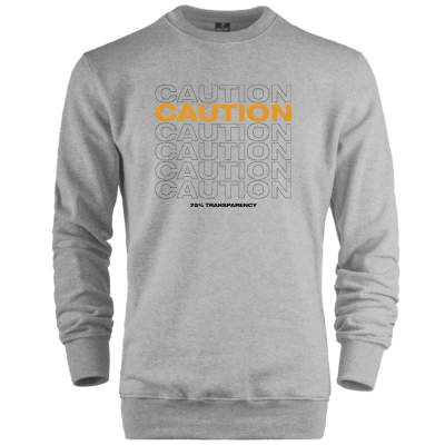 Outlet - HH - Caution (Style 2) Sweatshirt (SINIRLI SAYIDA)