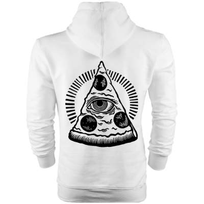 Back Off - HH - Back Off Pizza (Style 1) Cepli Hoodie