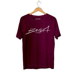 Baneva - HH - Baneva Tipografi Bordo T-shirt (Outlet)