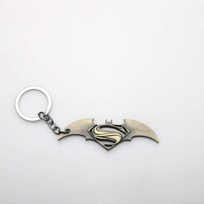 HH Batman Superman Metal Gold Anahtarlık