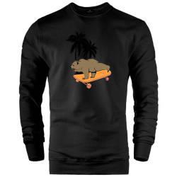 HH - Bear Gallery Bear on Skate Sweatshirt - Thumbnail