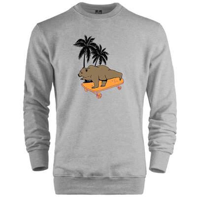 HH - Bear Gallery Bear on Skate Sweatshirt (Değişim ve İade Yoktur)