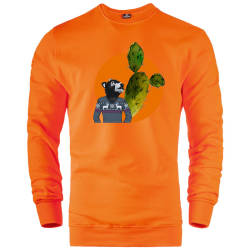 HH - Bear Gallery Cactus Bear Sweatshirt - Thumbnail