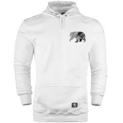 HH - Bear Gallery Grey Bear Cepli Hoodie - Thumbnail
