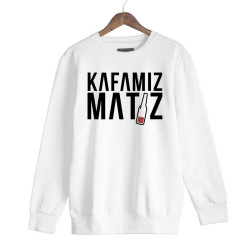 Ceg - HH - Ceg Kafamız Matiz Beyaz Sweatshirt