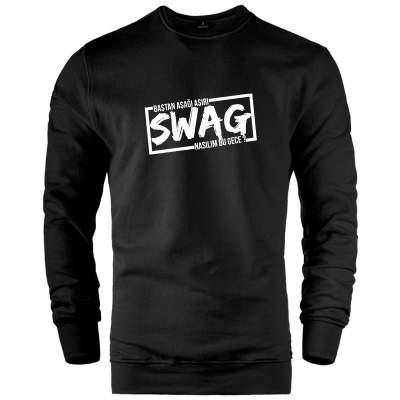HH - Ceg Swag Siyah Sweatshirt (Fırsat Ürünü)