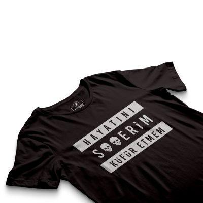 HH - Contra Hayatını S**erim Küfür Etmem Siyah T-shirt (Seçili Ürün)