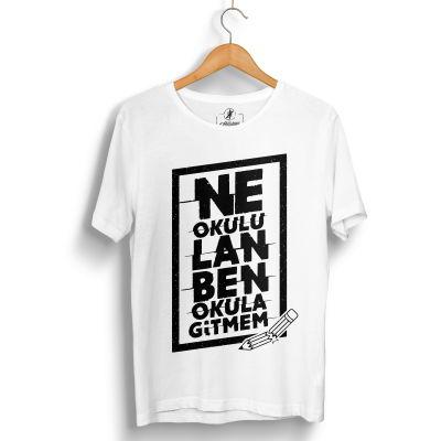 Contra Ne Okulu Lan Beyaz T-shirt (OUTLET)