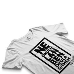 Contra Ne Okulu Lan Beyaz T-shirt (OUTLET) - Thumbnail