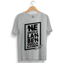 HH - Contra Ne Okulu Lan Gri T-shirt (Seçili Ürün) - Thumbnail