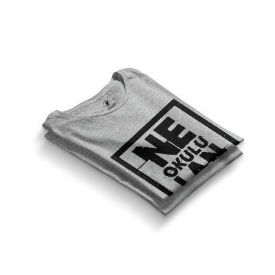 HH - Contra Ne Okulu Lan Gri T-shirt (Seçili Ürün)