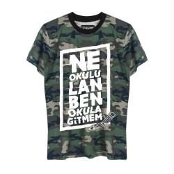 HH - Contra Ne Okulu Lan Kamuflaj T-shirt (Seçili Ürün) - Thumbnail
