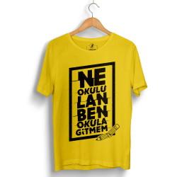 Outlet - HH - Contra Ne Okulu Lan Sarı T-shirt (Seçili Ürün)