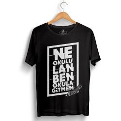 Outlet - HH - Contra Ne Okulu Lan Siyah T-shirt (Seçili Ürün)