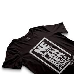 HH - Contra Ne Okulu Lan Siyah T-shirt (OUTLET) - Thumbnail