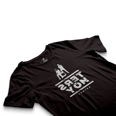 HH - Contra Ters Yön Siyah T-shirt (Seçili Ürün)