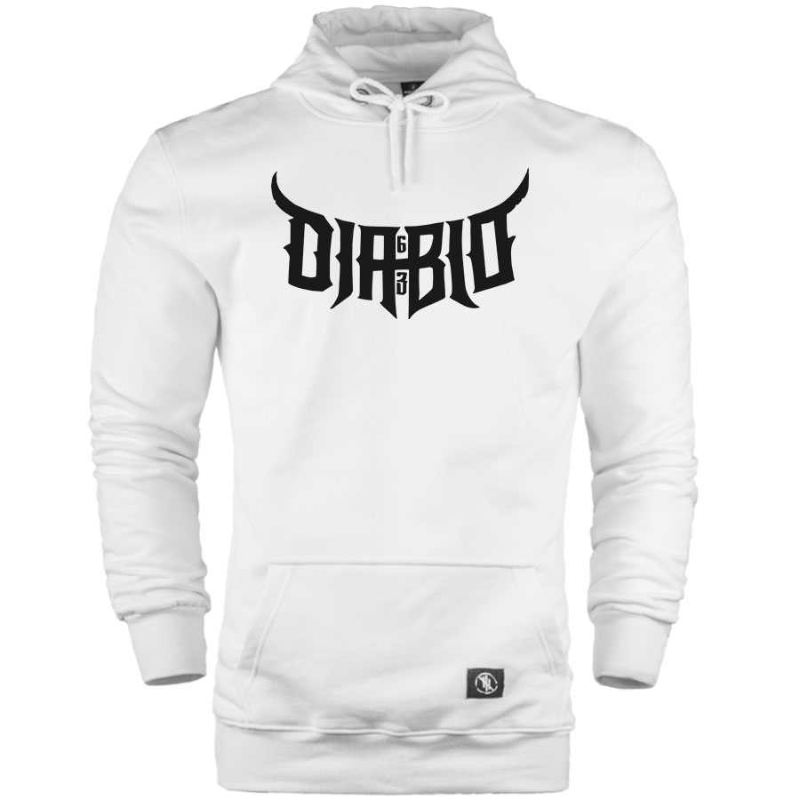 HH - Diablo 63 Cepli Hoodie (Fırsat Ürünü) - Beyaz