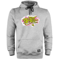HH - Dukstill Graffiti Cepli Hoodie - Thumbnail