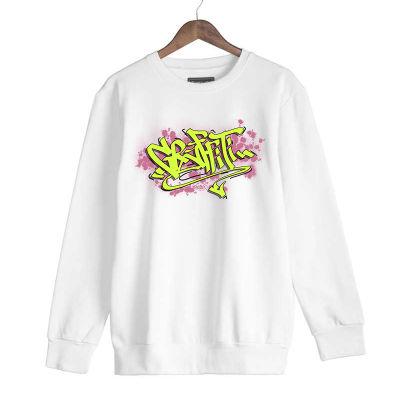 HH - Dukstill Graffiti Beyaz Sweatshirt (Fırsat Ürünü)