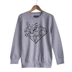Beatenfame - HH - Elçin Orçun Diamond Gri Sweatshirt