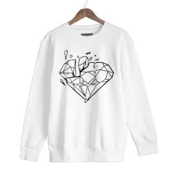 Beatenfame - HH - Elçin Orçun Diamond Beyaz Sweatshirt