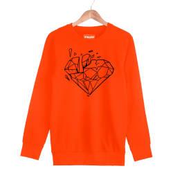 Beatenfame - HH - Elçin Orçun Diamond Turuncu Sweatshirt