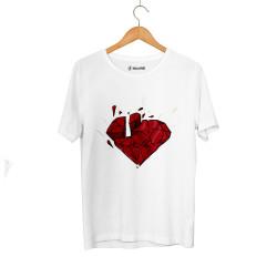 Outlet - HH - Elçin Orçun Red Diamond Beyaz T-shirt (Seçili Ürün)