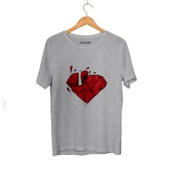 Outlet - HH - Elçin Orçun Red Diamond Gri T-shirt (Seçili Ürün)