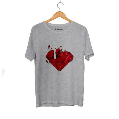 HH - Elçin Orçun Red Diamond Gri T-shirt (Seçili Ürün)