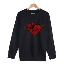 Beatenfame - HH - Elçin Orçun Red Diamond Siyah Sweatshirt