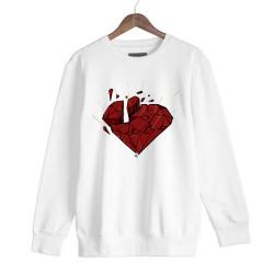 Beatenfame - HH - Elçin Orçun Red Diamond Beyaz Sweatshirt