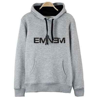 HH - Eminem LP Gri Cepli Hoodie (Fırsat Ürünü)