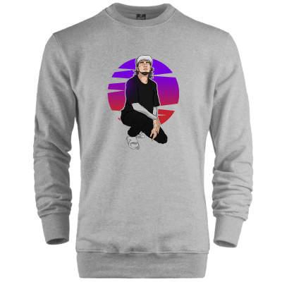 İndirim - HH - Ezhel Geceler Gri Sweatshirt (Fırsat Ürünü)