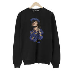 İndirim - HH - Ezhel Poison Siyah Sweatshirt (Fırsat Ürünü)