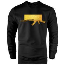 İndirim - HH - FEC Goldish Siyah Sweatshirt (Fırsat Ürünü)