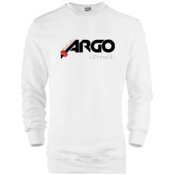İndirim - HH - Gazapizm Argo İzmir Beyaz Sweatshirt (Fırsat Ürünü)
