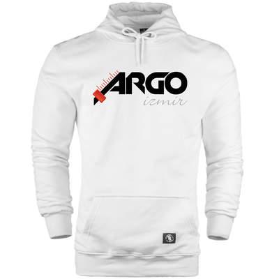 HH - Gazapizm Argo İzmir Beyaz Cepli Hoodie (Fırsat Ürünü)