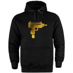 HH - Gold Uzi Cepli Hoodie - Thumbnail